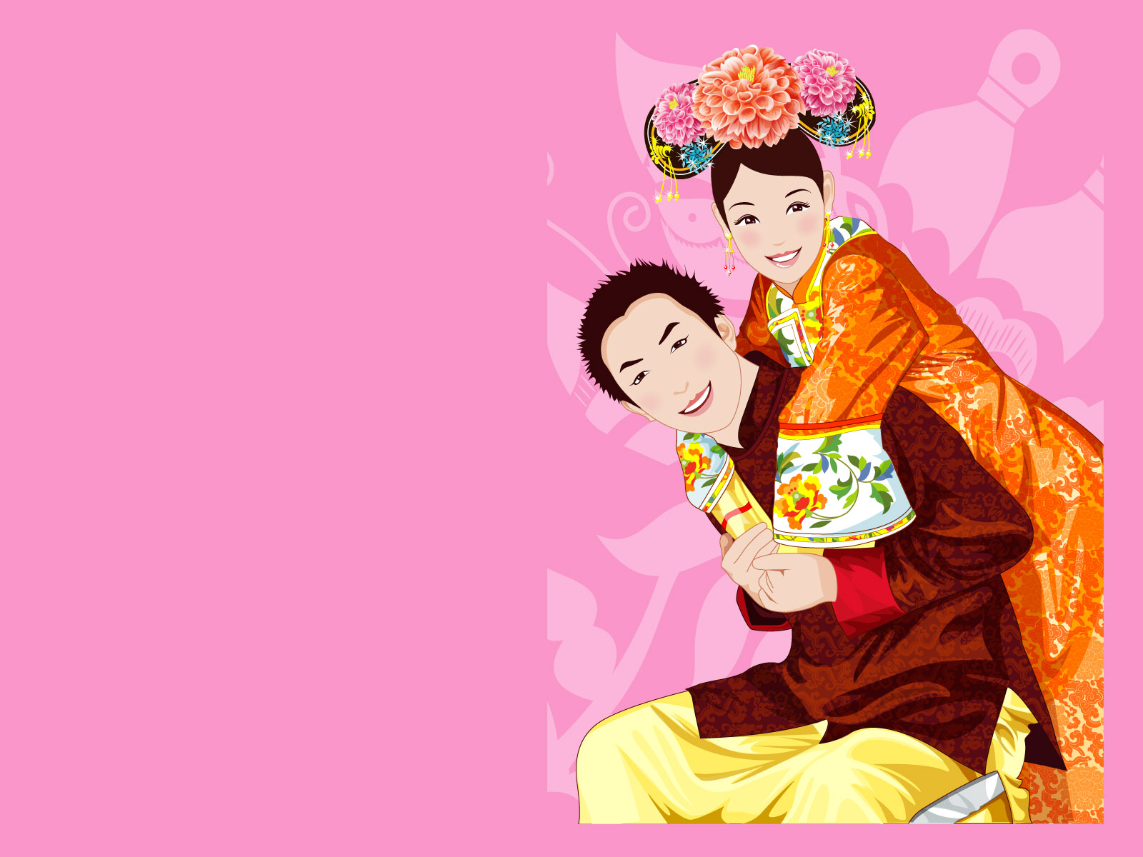 Traditional wedding couple 6598