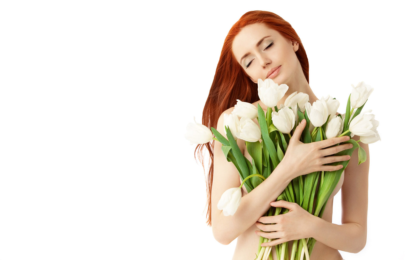 Woman with flowers 25761