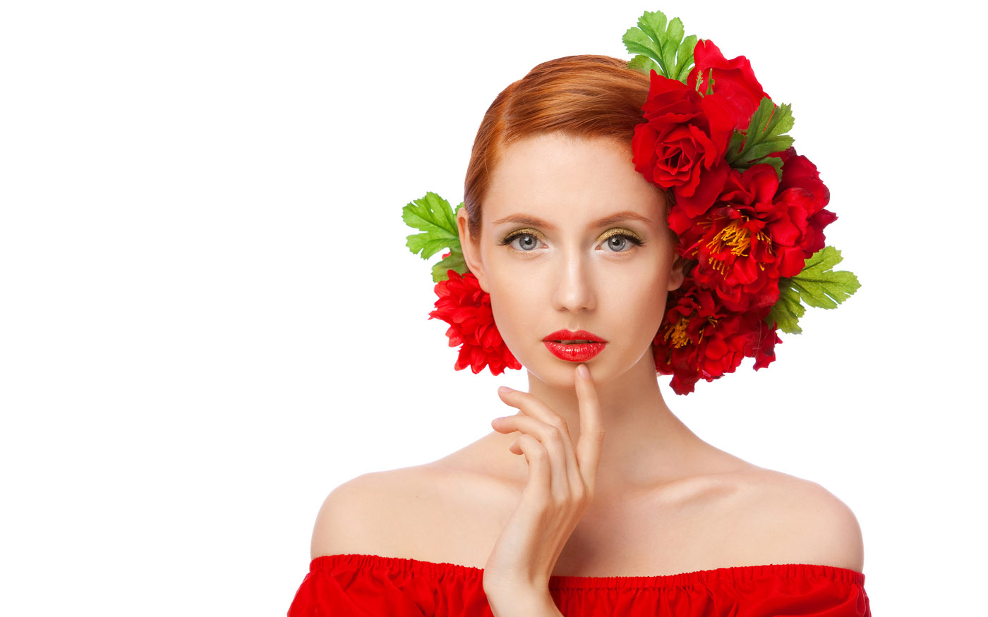 Woman with flowers 25858