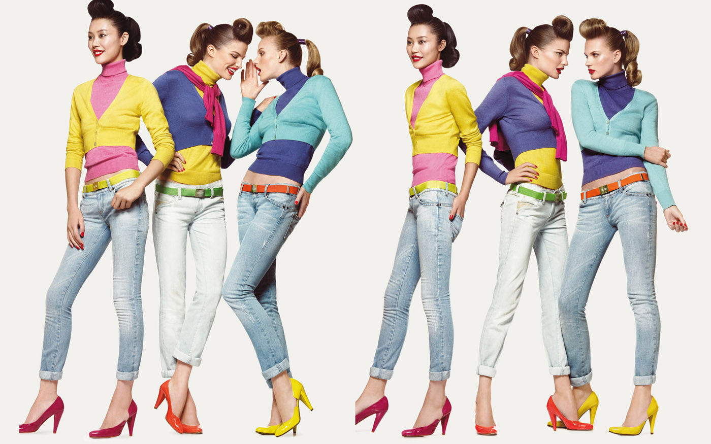 Colorful fashion model 25910