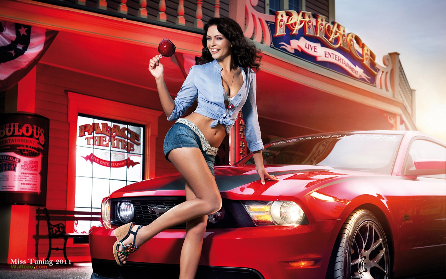 Germany modified car models girl Kristin Zippel wallpaper 30951