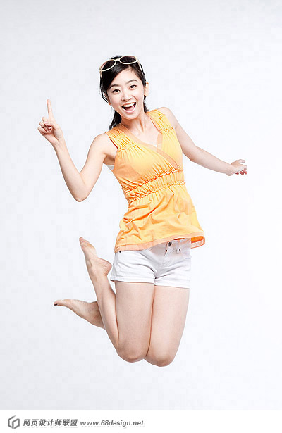 Happy people jumping material 12148