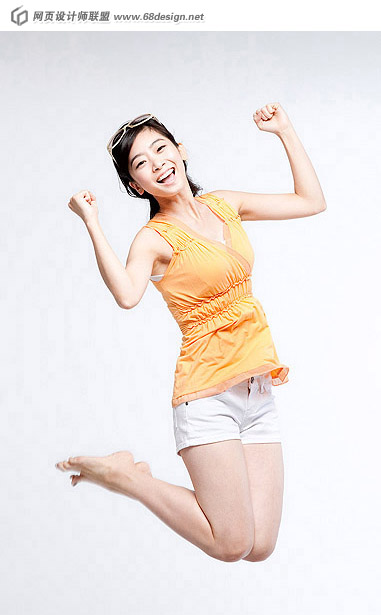 Happy people jumping material 12321