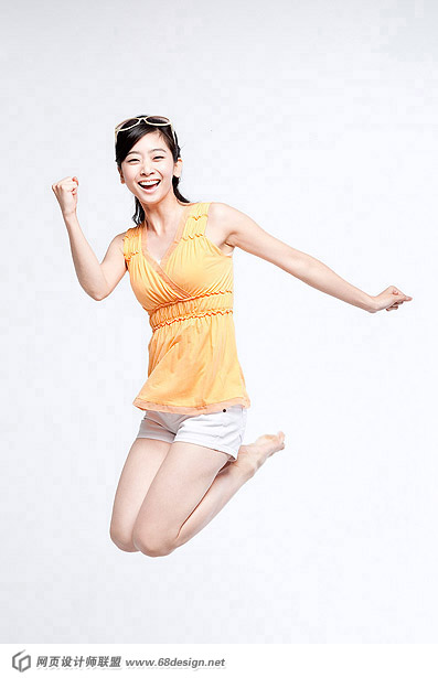 Happy people jumping material 12406