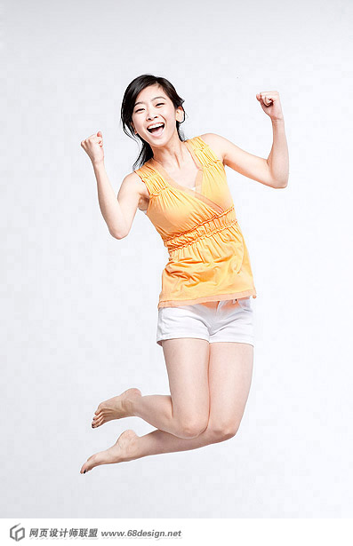 Happy people jumping material 12576