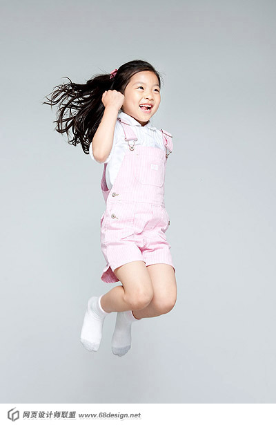 Happy people jumping material 12981