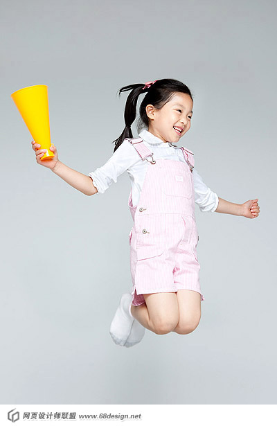 Happy people jumping material 13536