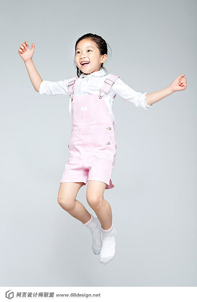 Happy people jumping material 13770