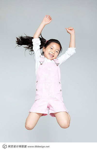 Happy people jumping material 13848