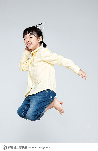 Happy people jumping material 13926