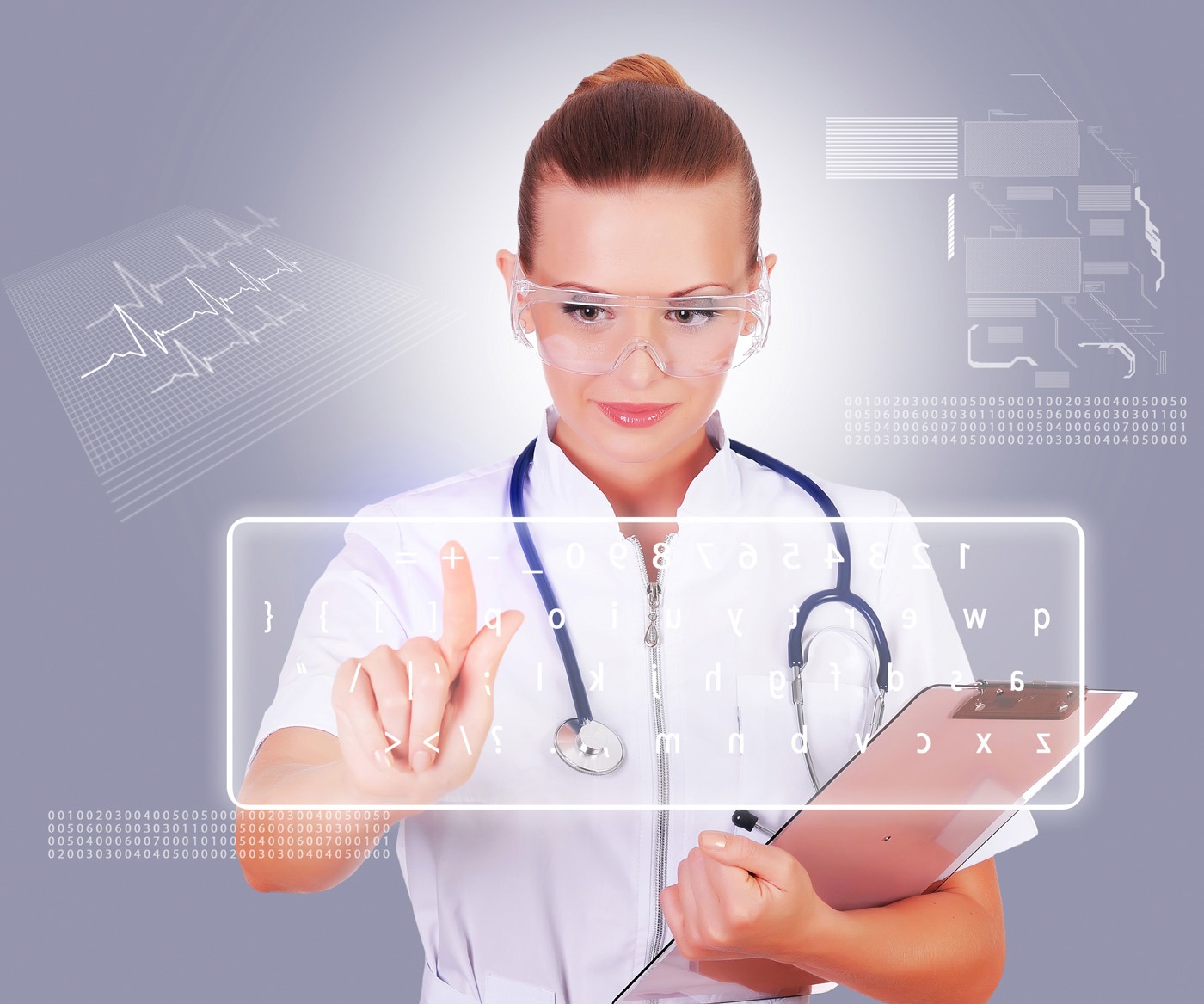 Beauty nurses and touch screen 13928