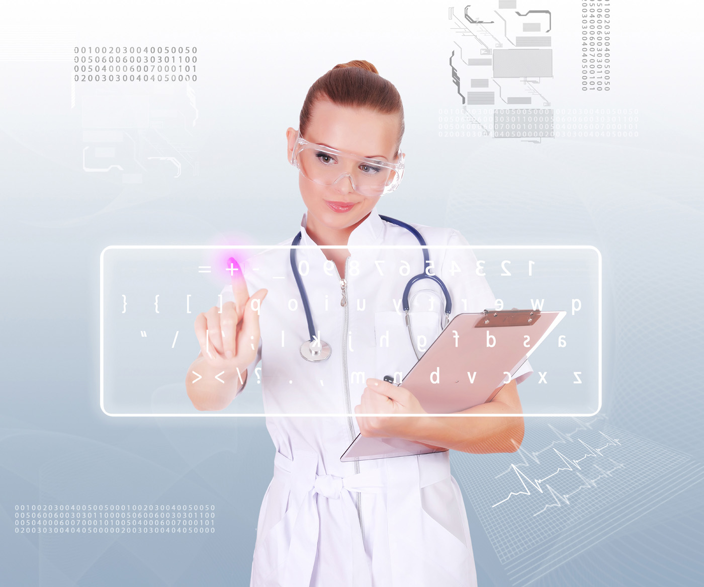 Beauty nurses and touch screen 14006