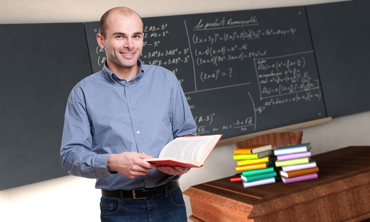 Teacher and blackboard 24971