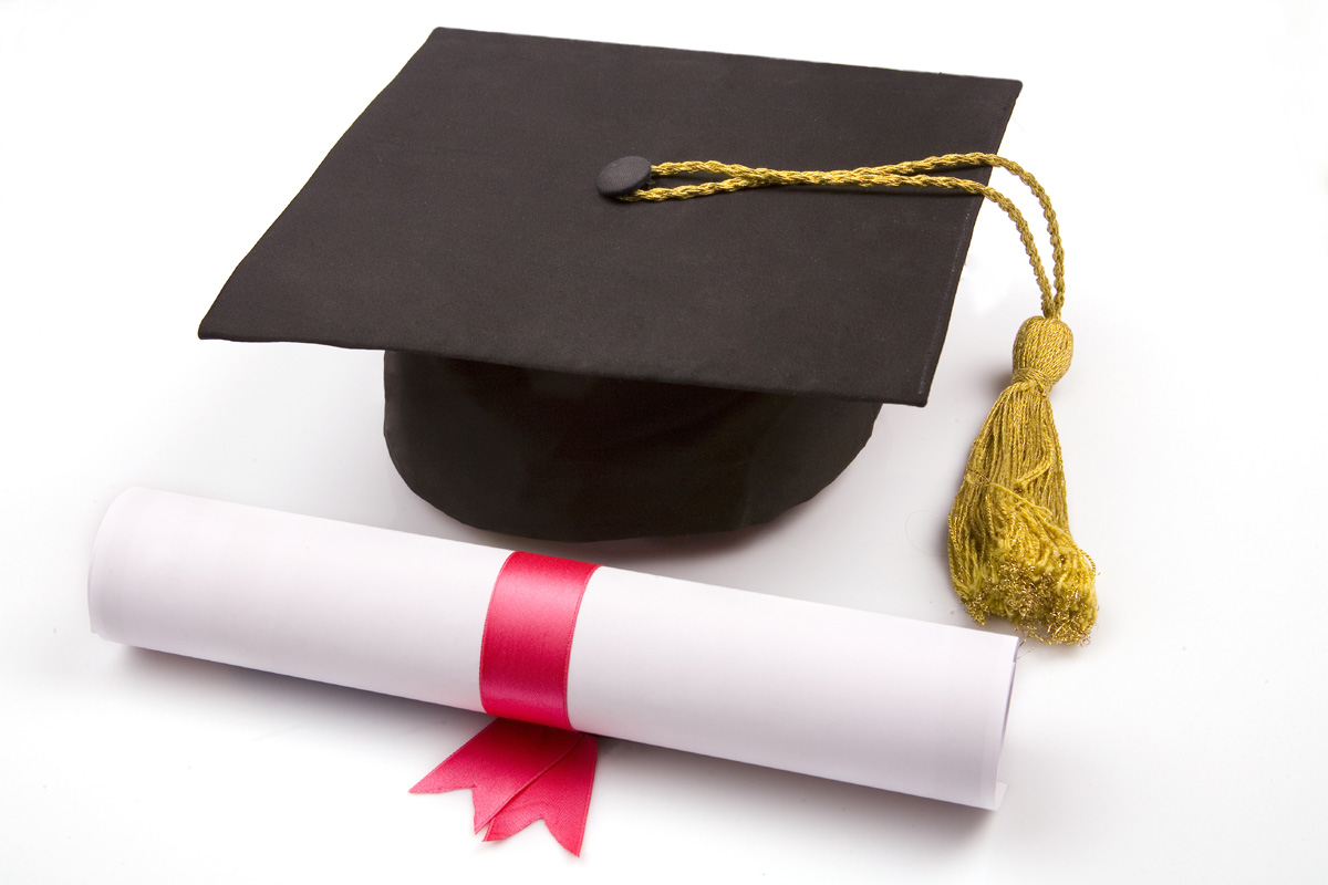 Diploma and degree cap 25291