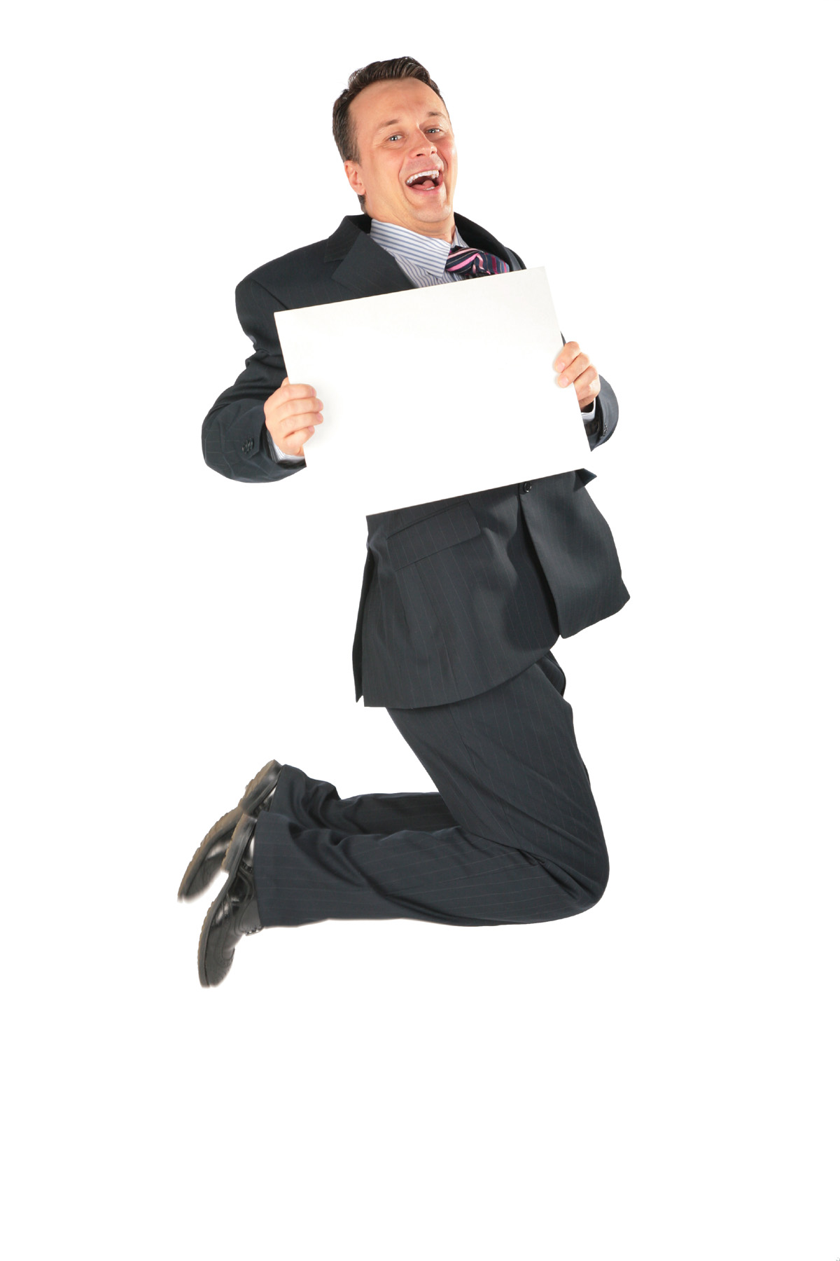 Business people holding blank cardboard 28570