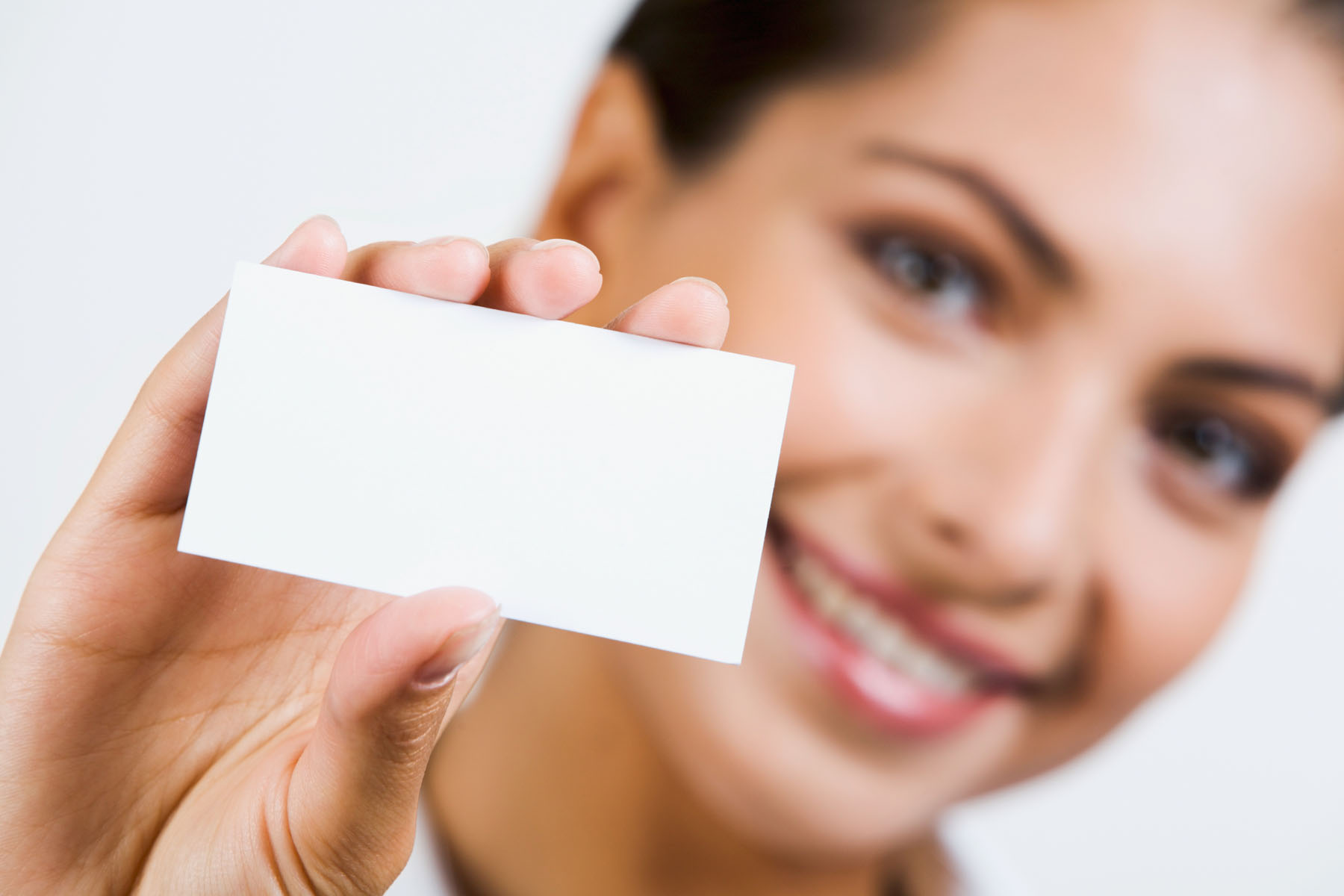 Holding blank business card material 23724