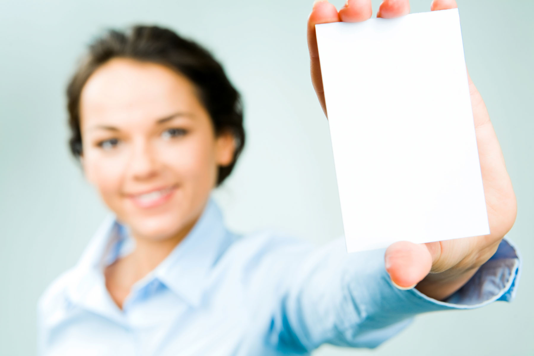 Holding blank business card material 23747