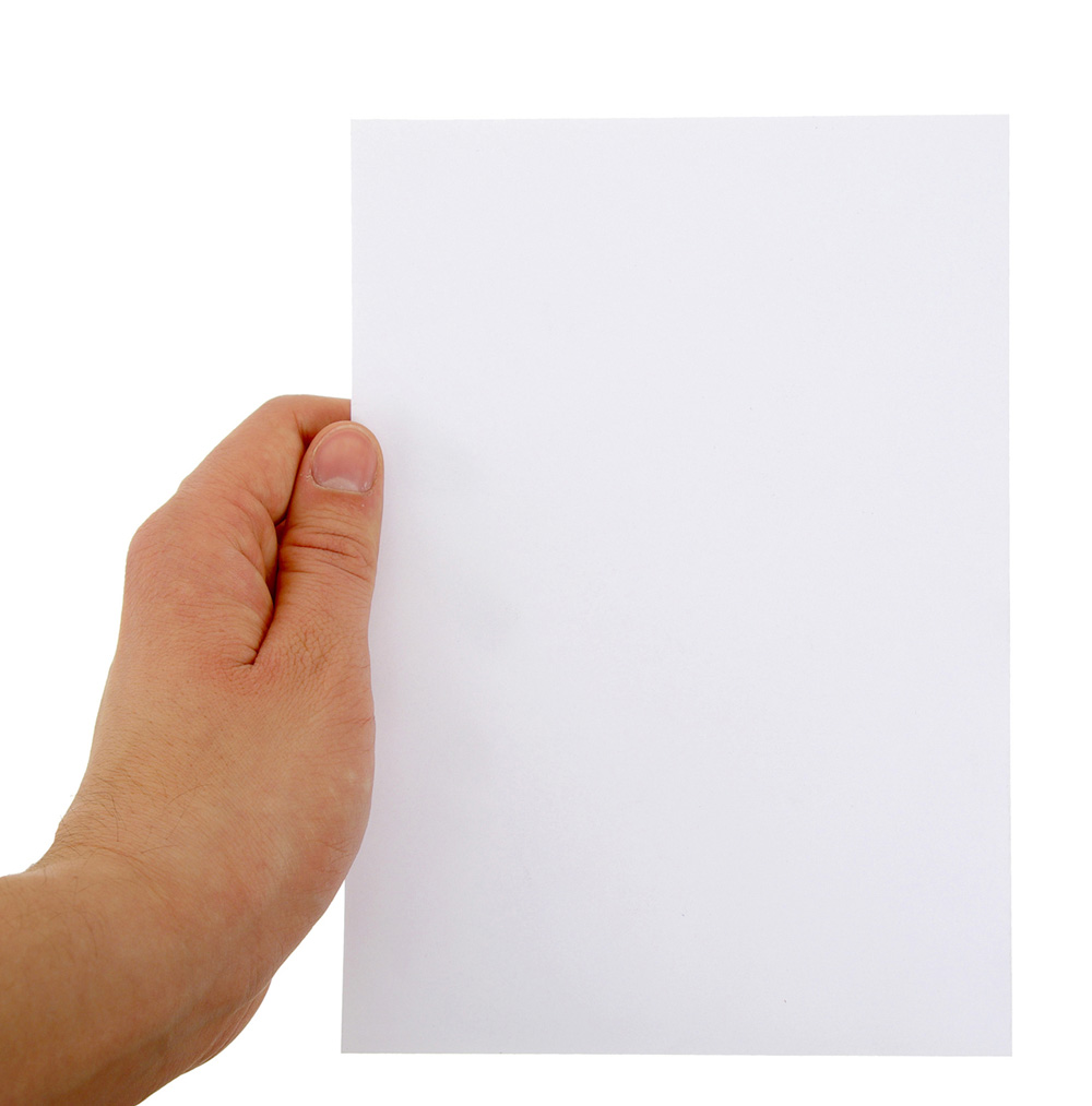 Holding paper picture 25666