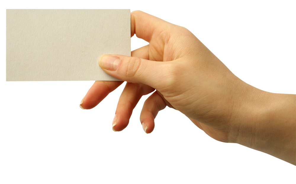 Hand card picture 25736