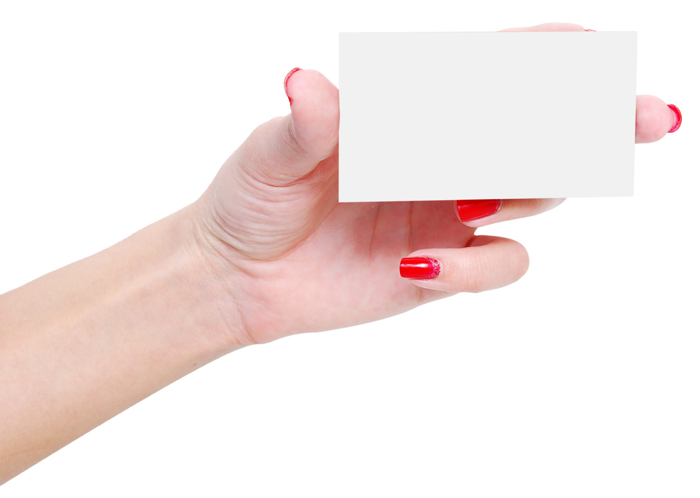 Holding blank card 25991