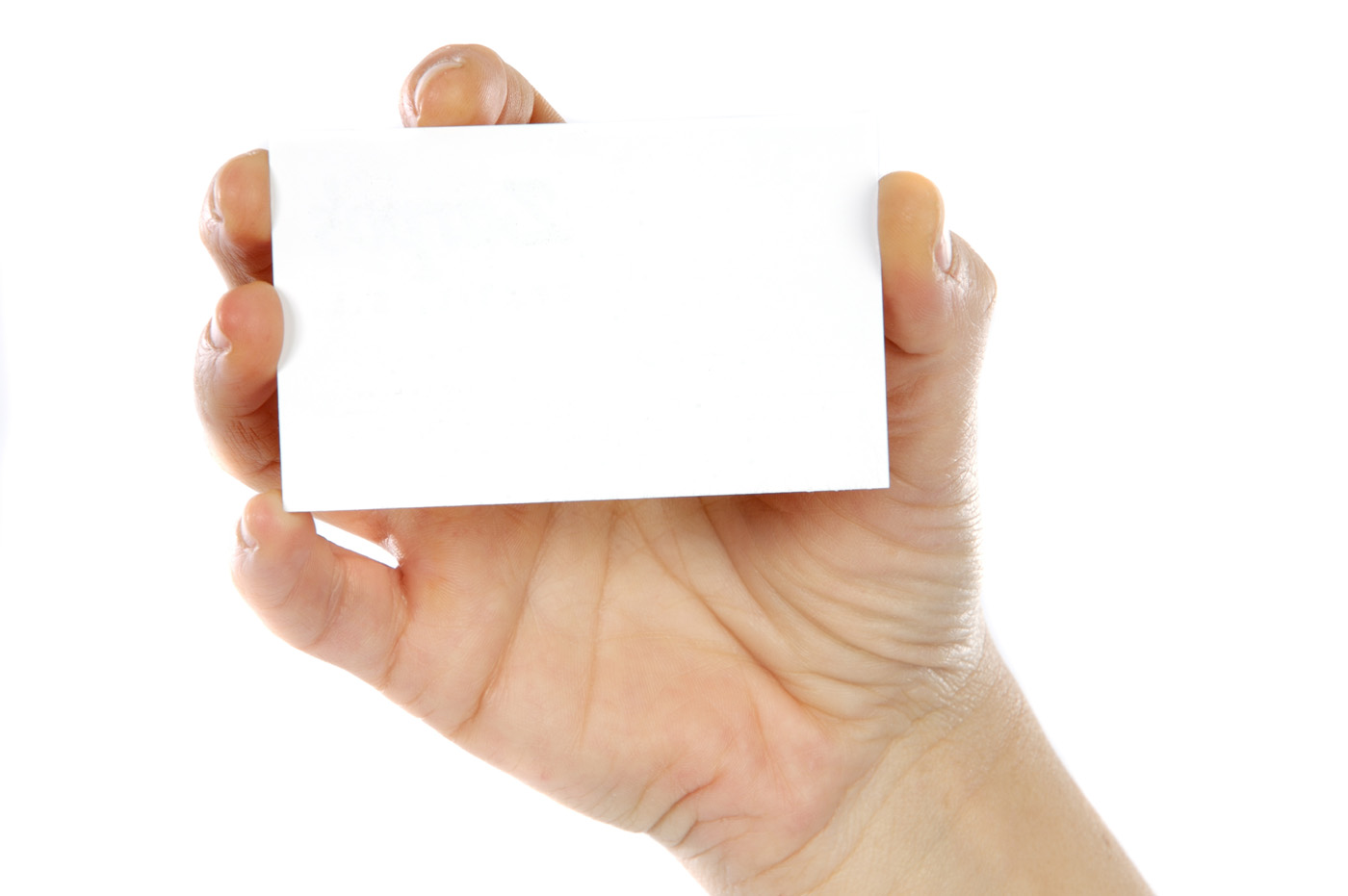 Holding blank card 26004
