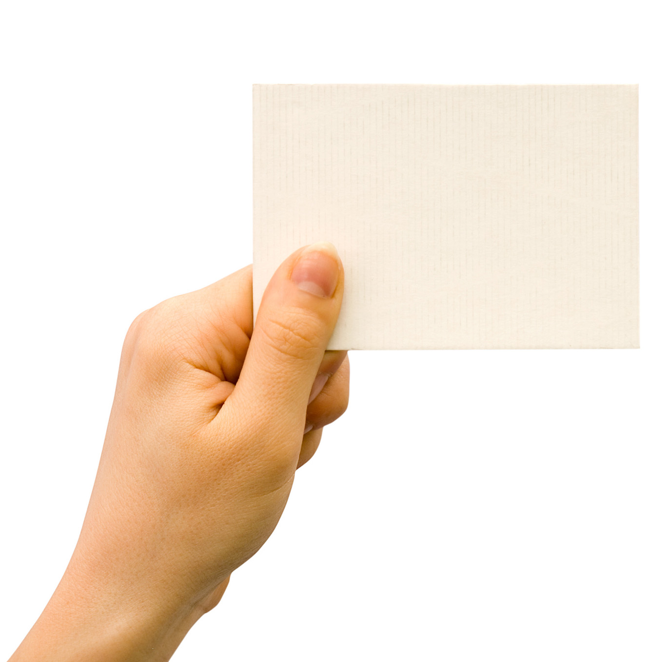 Holding blank card 26017