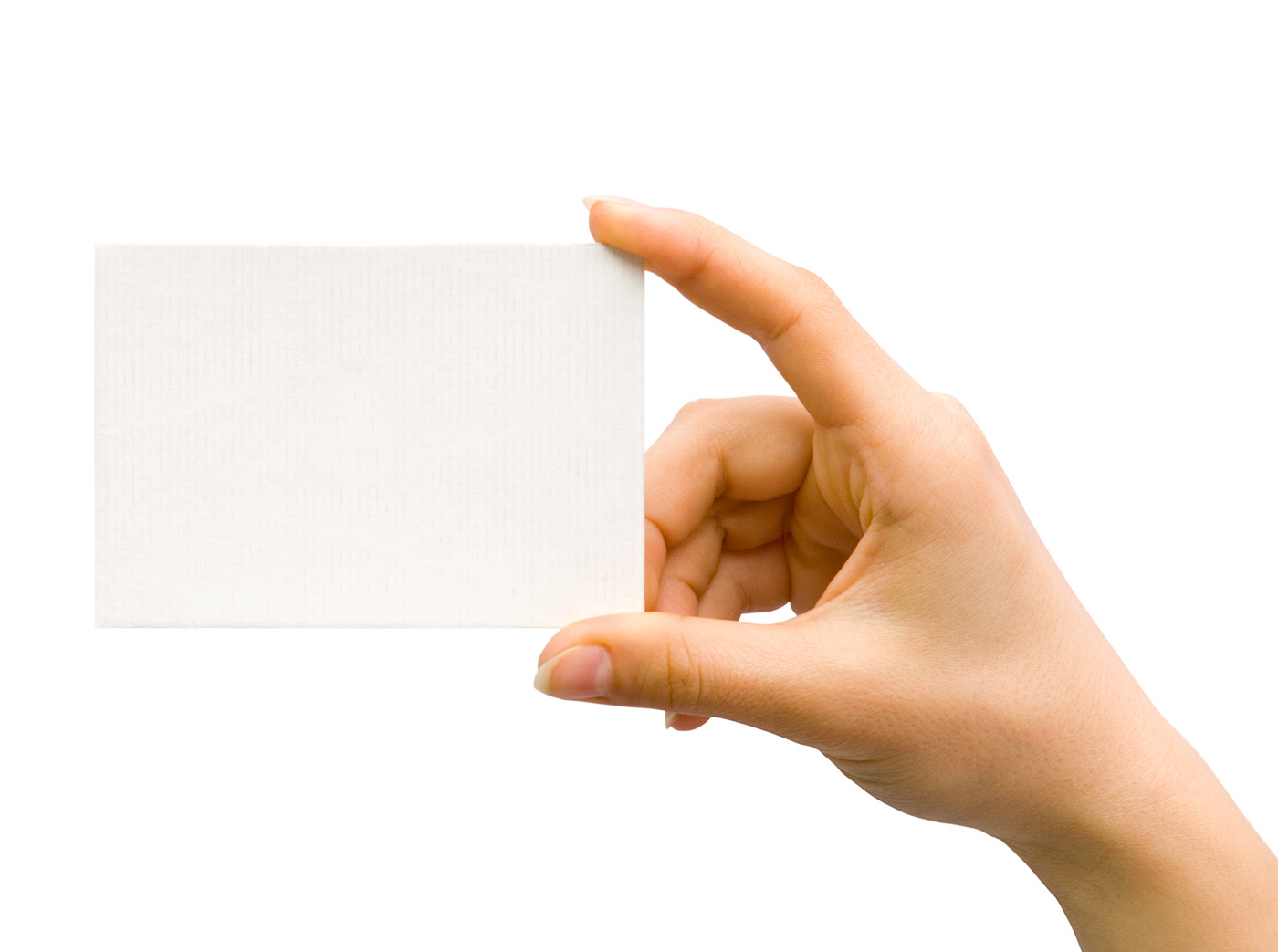 Holding blank card 26030