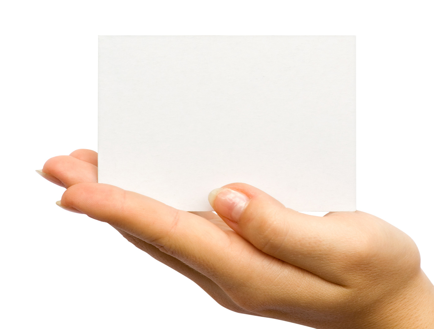 Holding blank card 26056