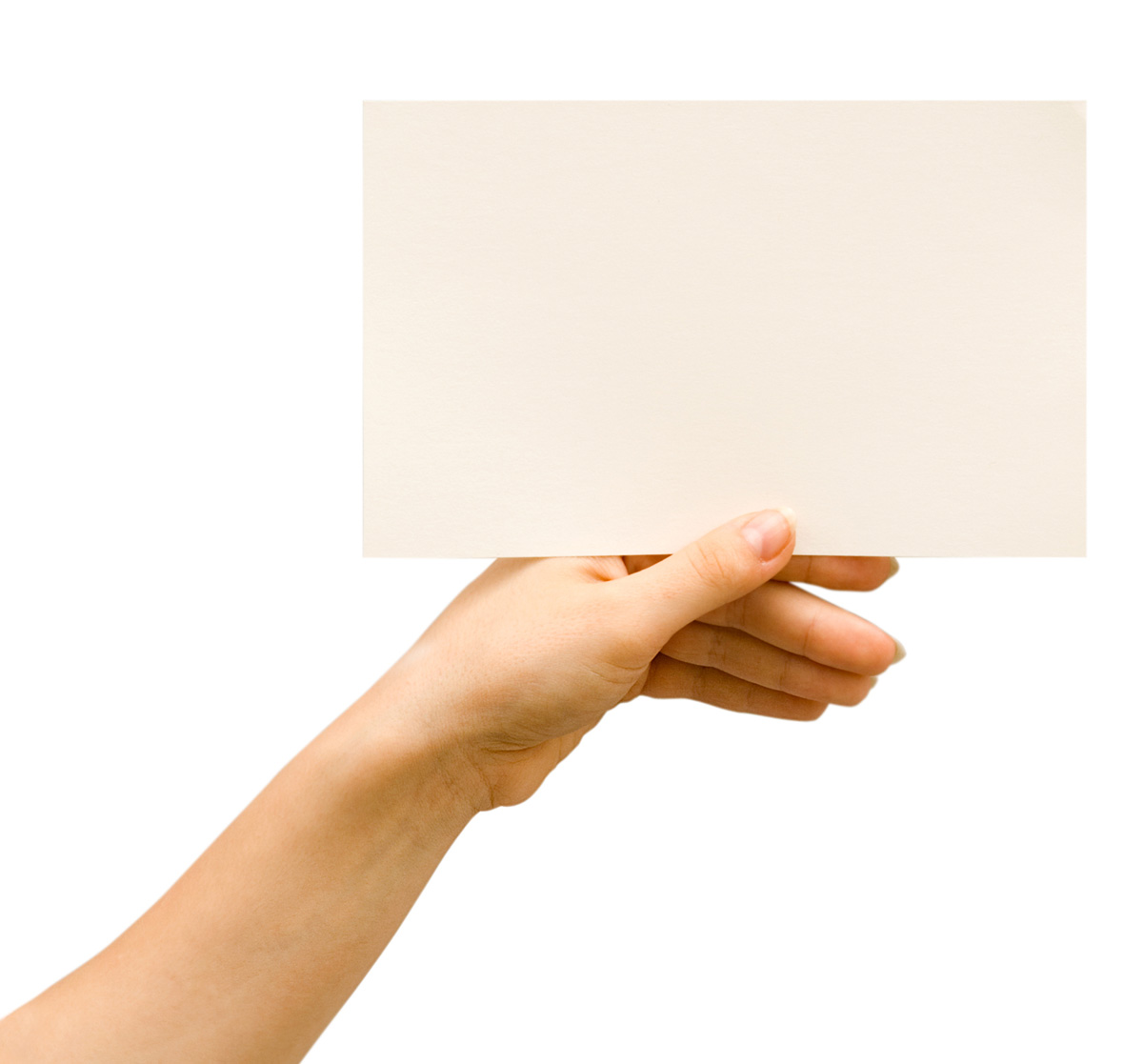 Holding blank card 26069