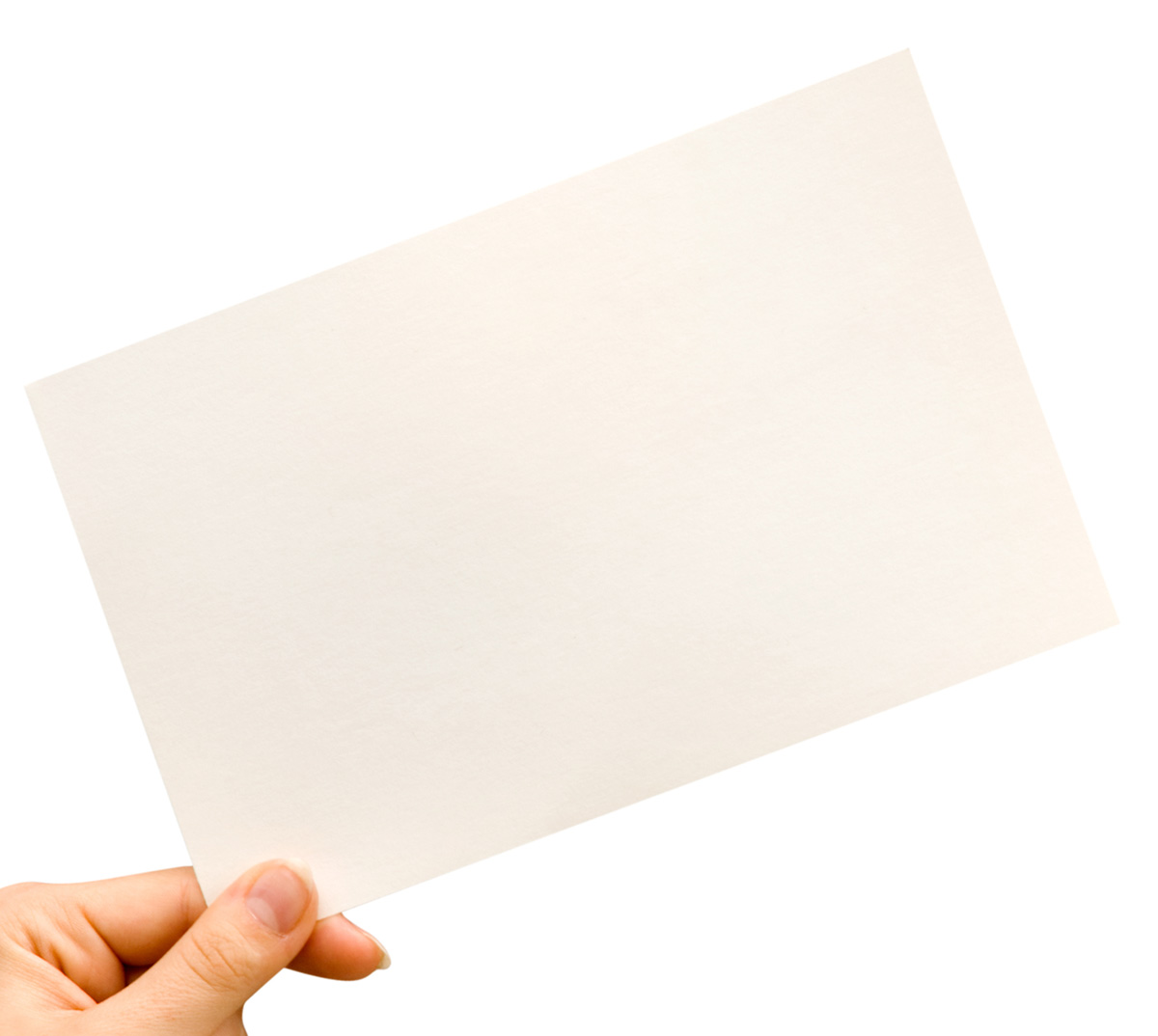 Holding blank card 26082