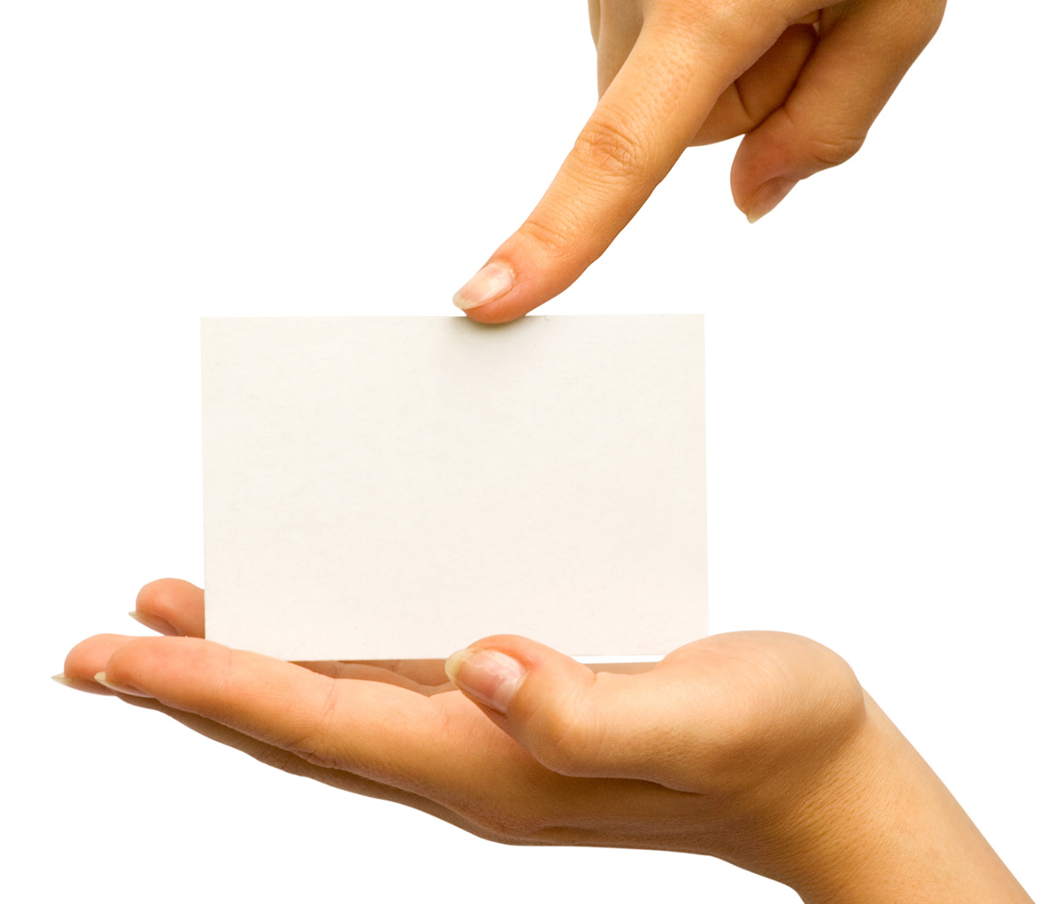 Holding blank card 26095