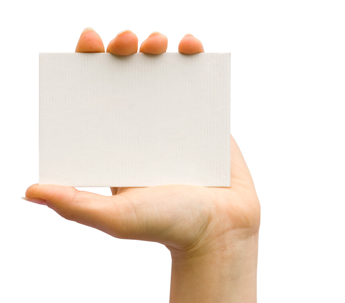 Holding blank card 26121