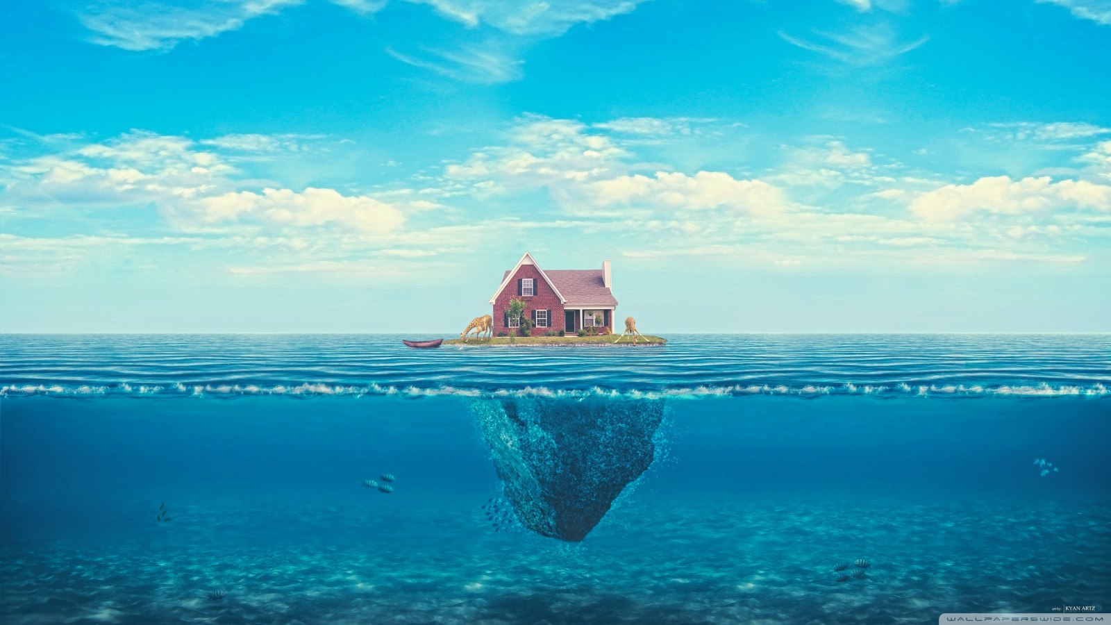 House with ocean 49501