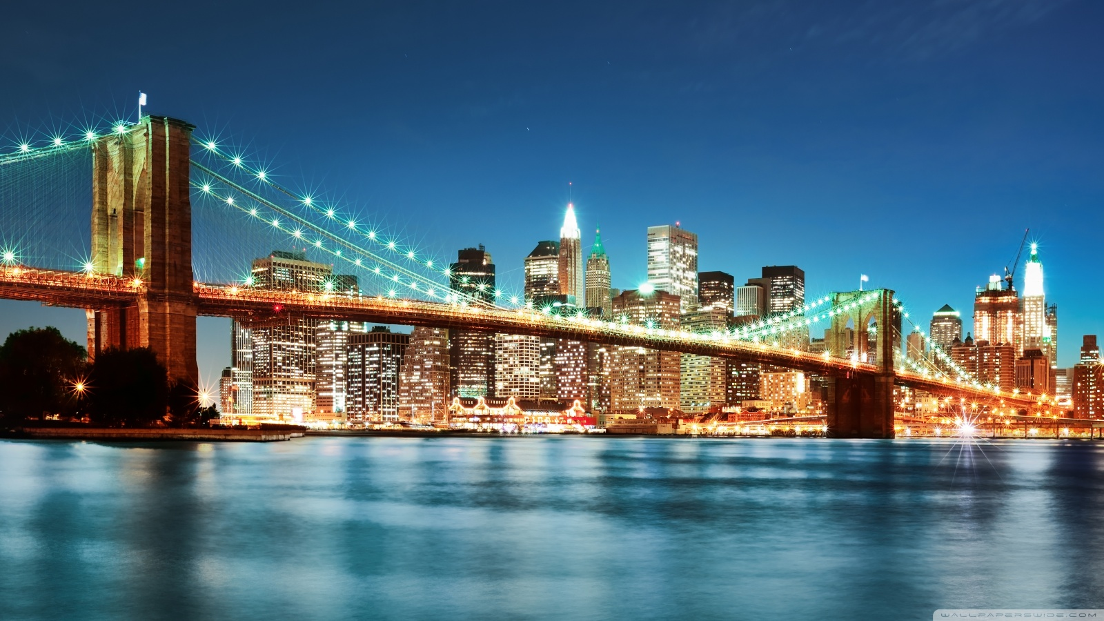 New York City night lights wallpaper 49572