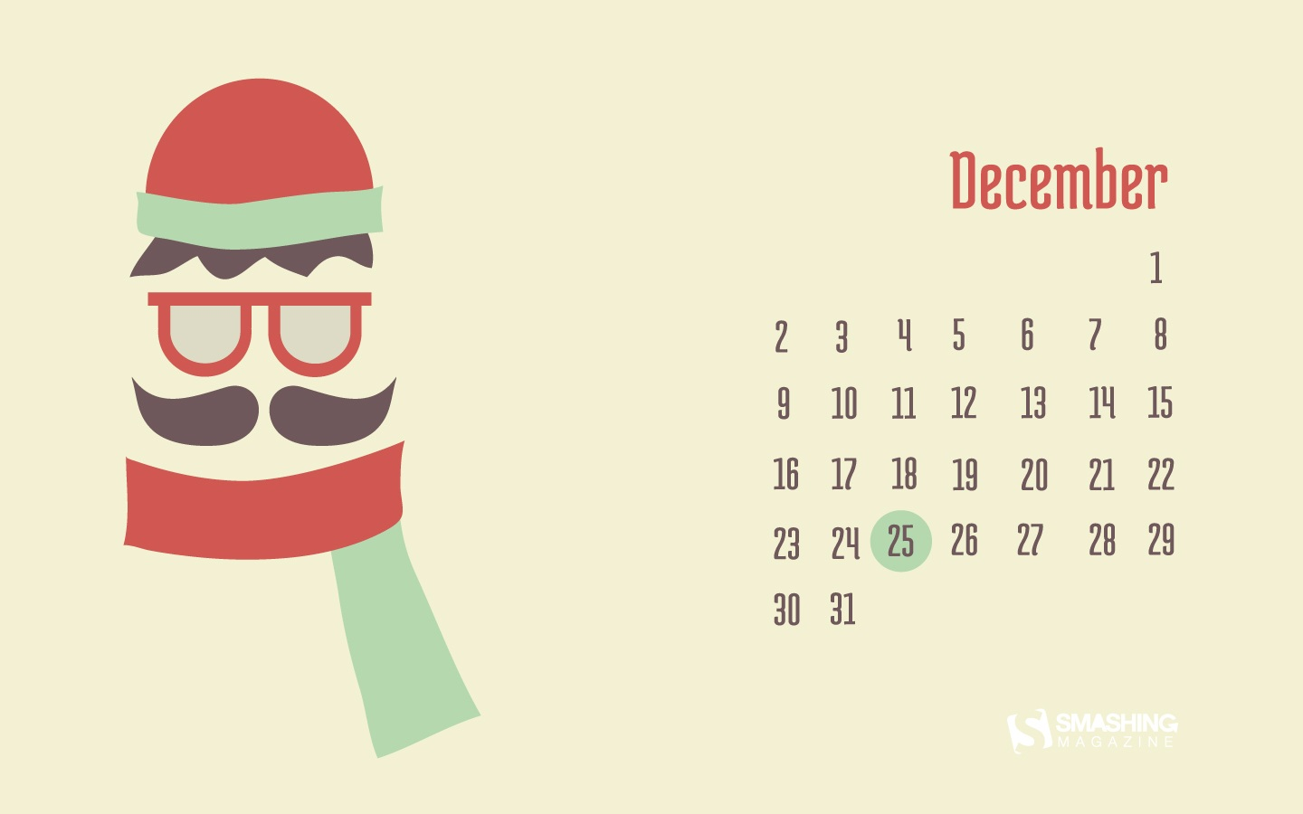Month Calendar Wallpaper Christmas Edition 49647
