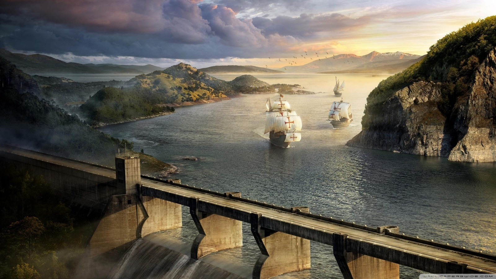 Modern dams and old ships 49682