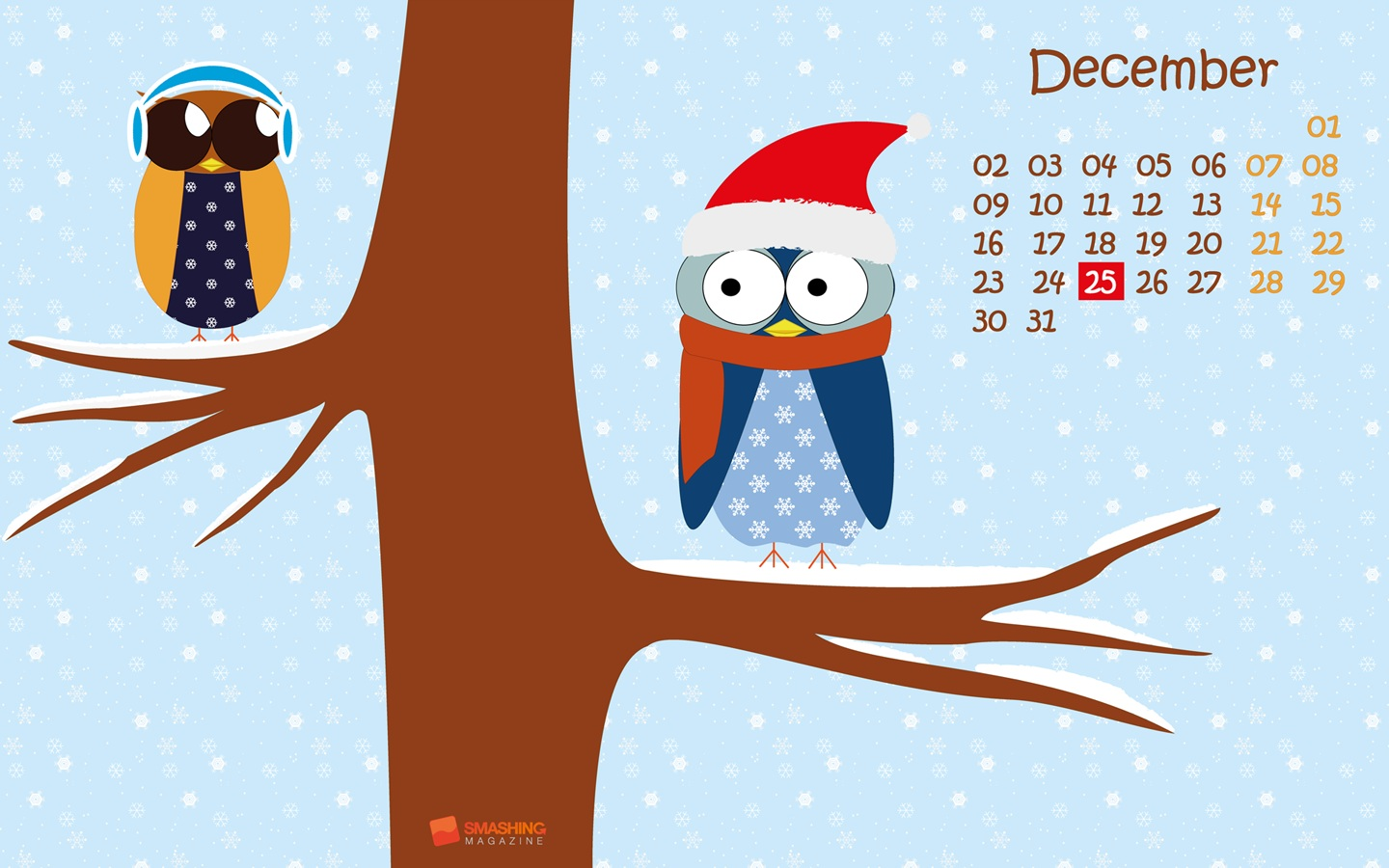 Month Calendar Wallpaper Christmas Edition 49714