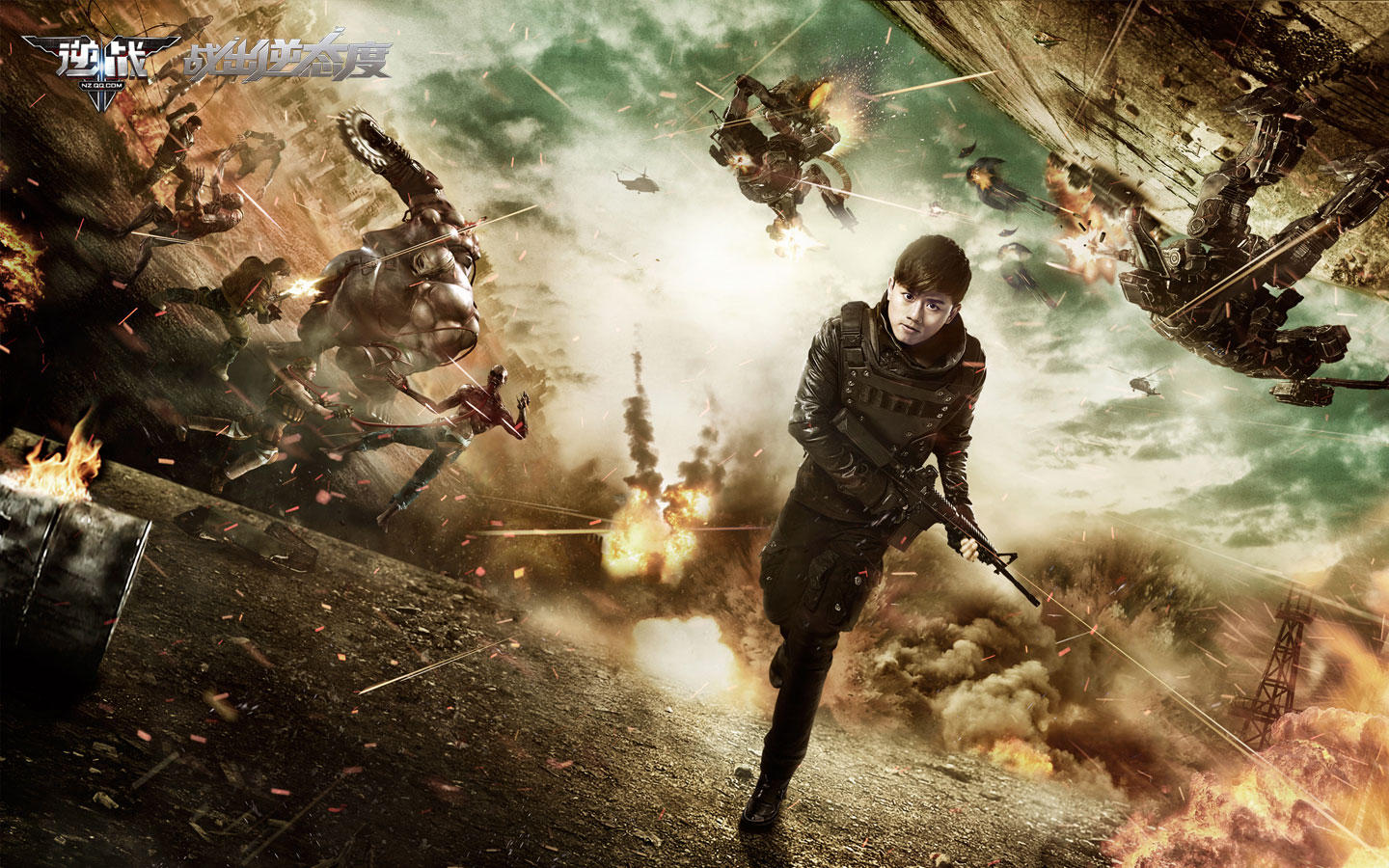 "Zhang Jie endorsement ""against the war"" game desktop wallpaper 49770"