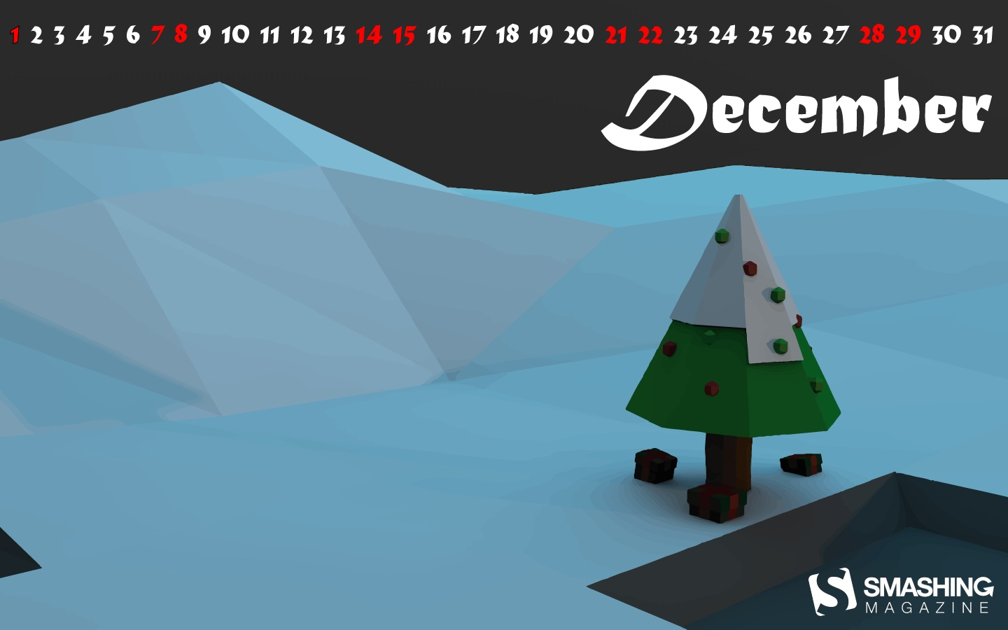 Month Calendar Wallpaper Christmas Edition 49777