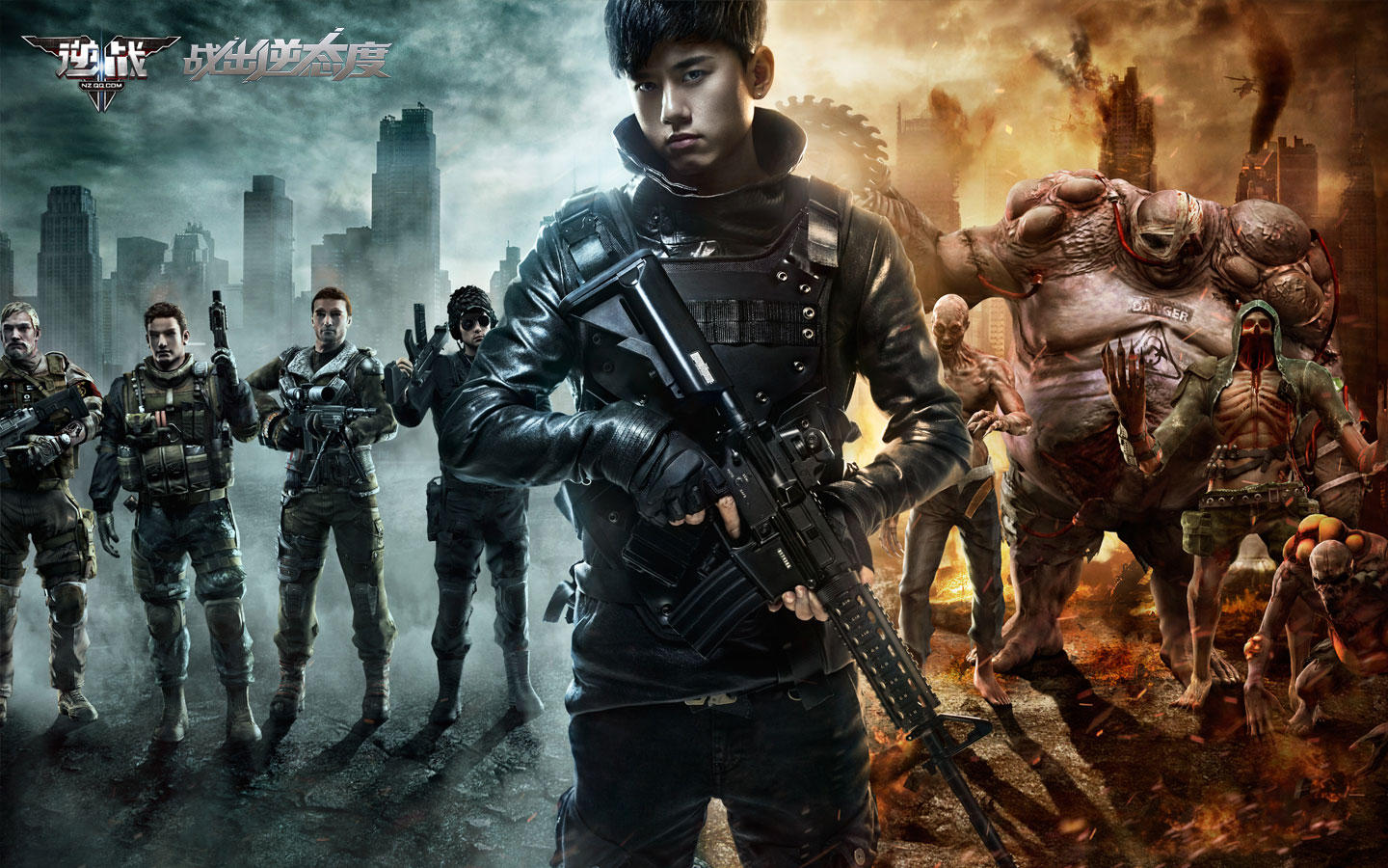 "Zhang Jie endorsement ""against the war"" game desktop wallpaper 49778"