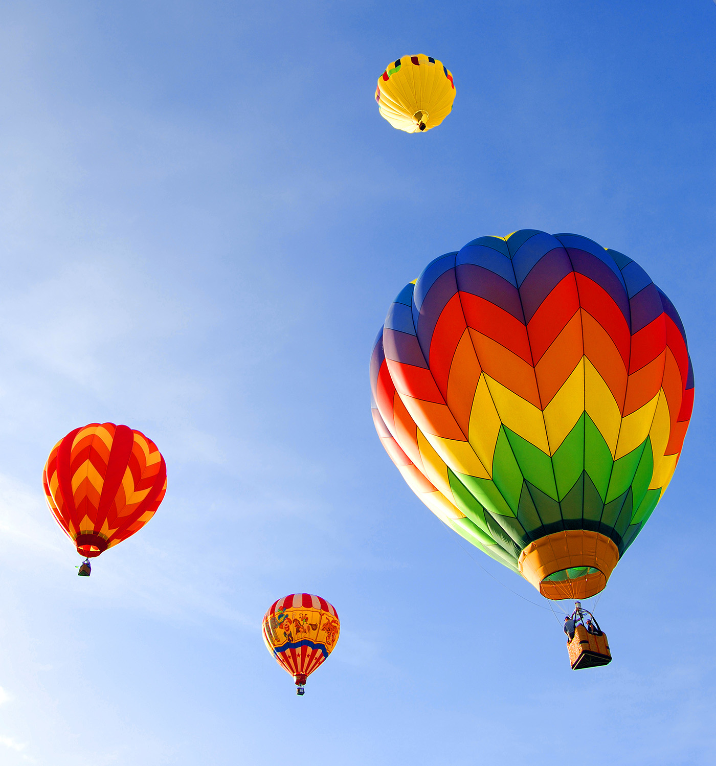 Sky in a hot air balloon floating 49936