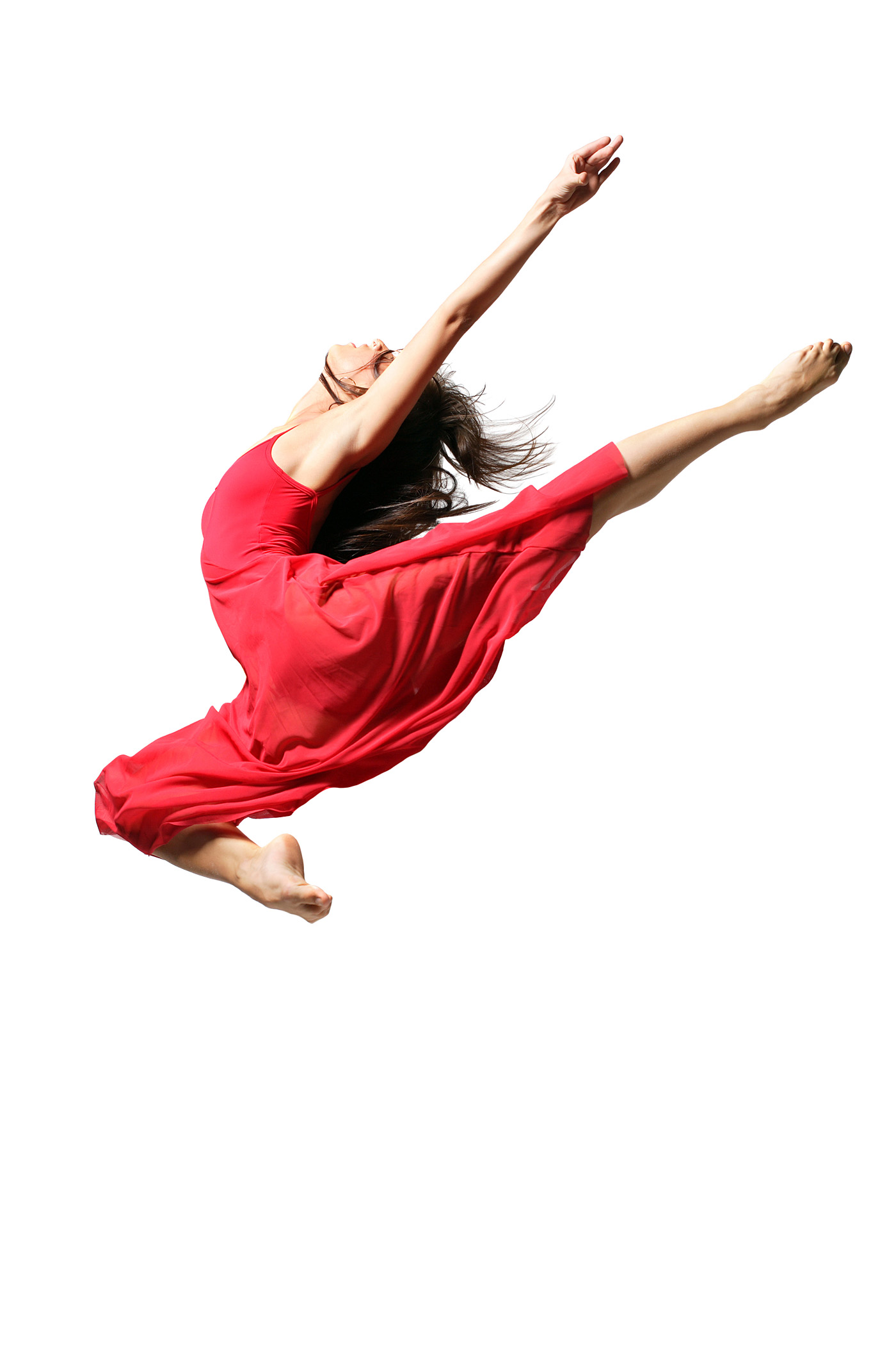 Female dancer in red dress 49939