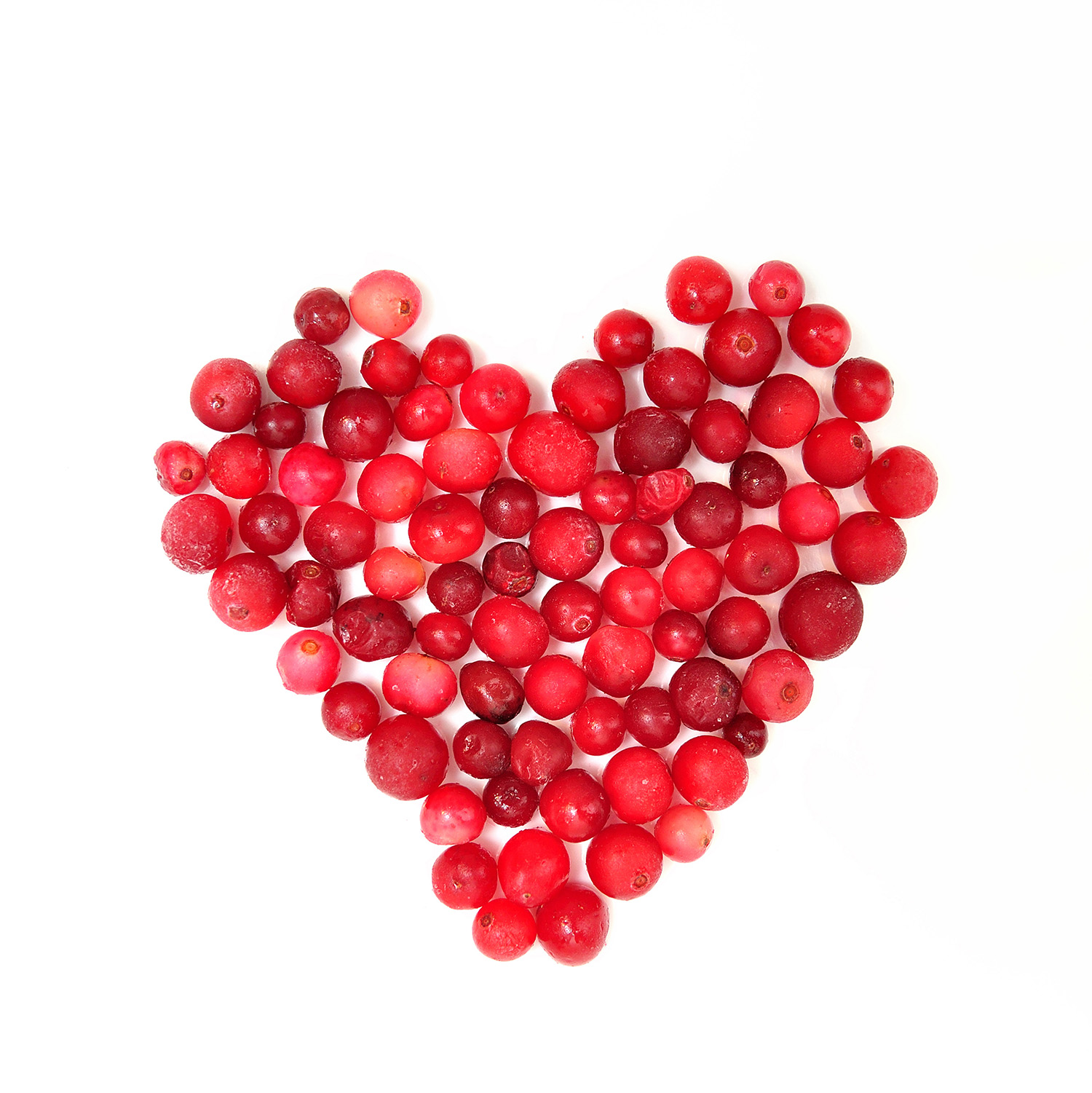 Heart-shaped red fruit composition 49958