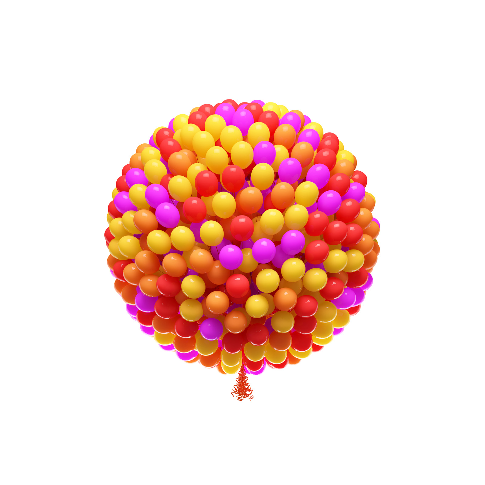 Bright circle composed of three color balloons balloon 49965
