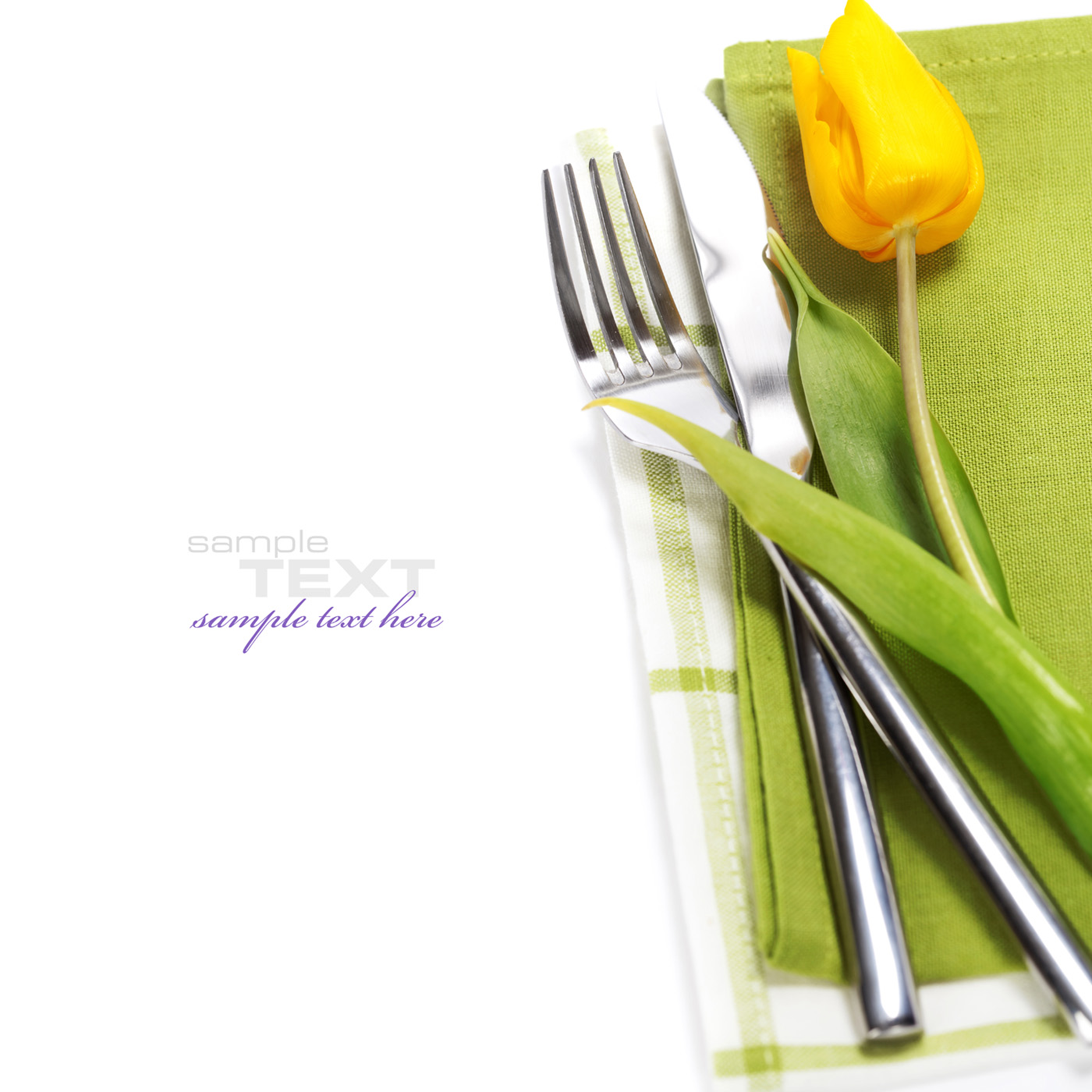 A flower and cutlery 49986