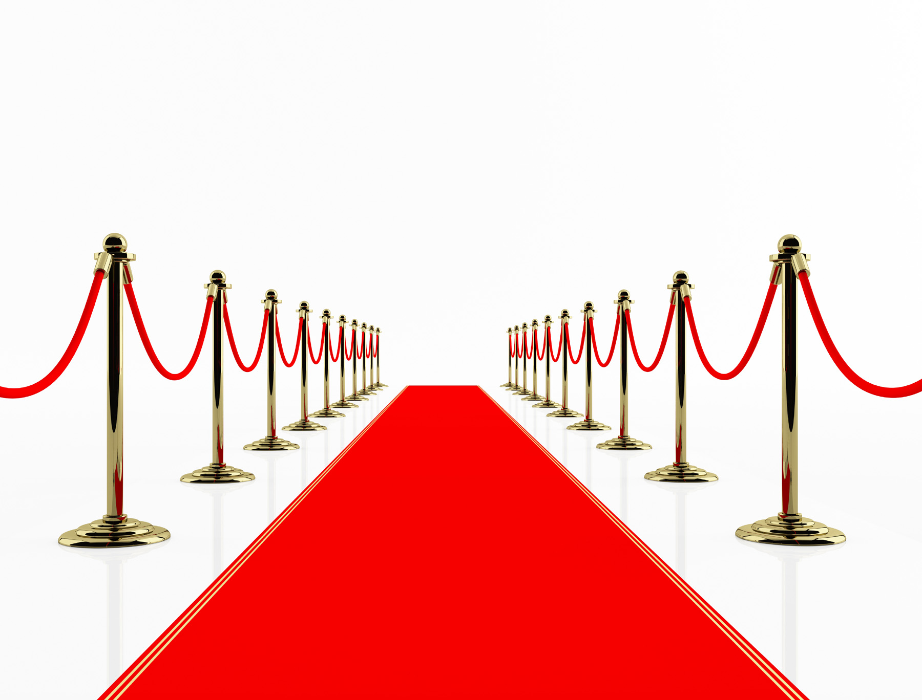 Red carpet round booth with fence design 49988