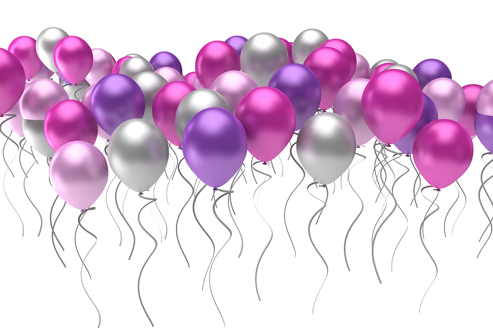 Purple tricolor balloons 50003