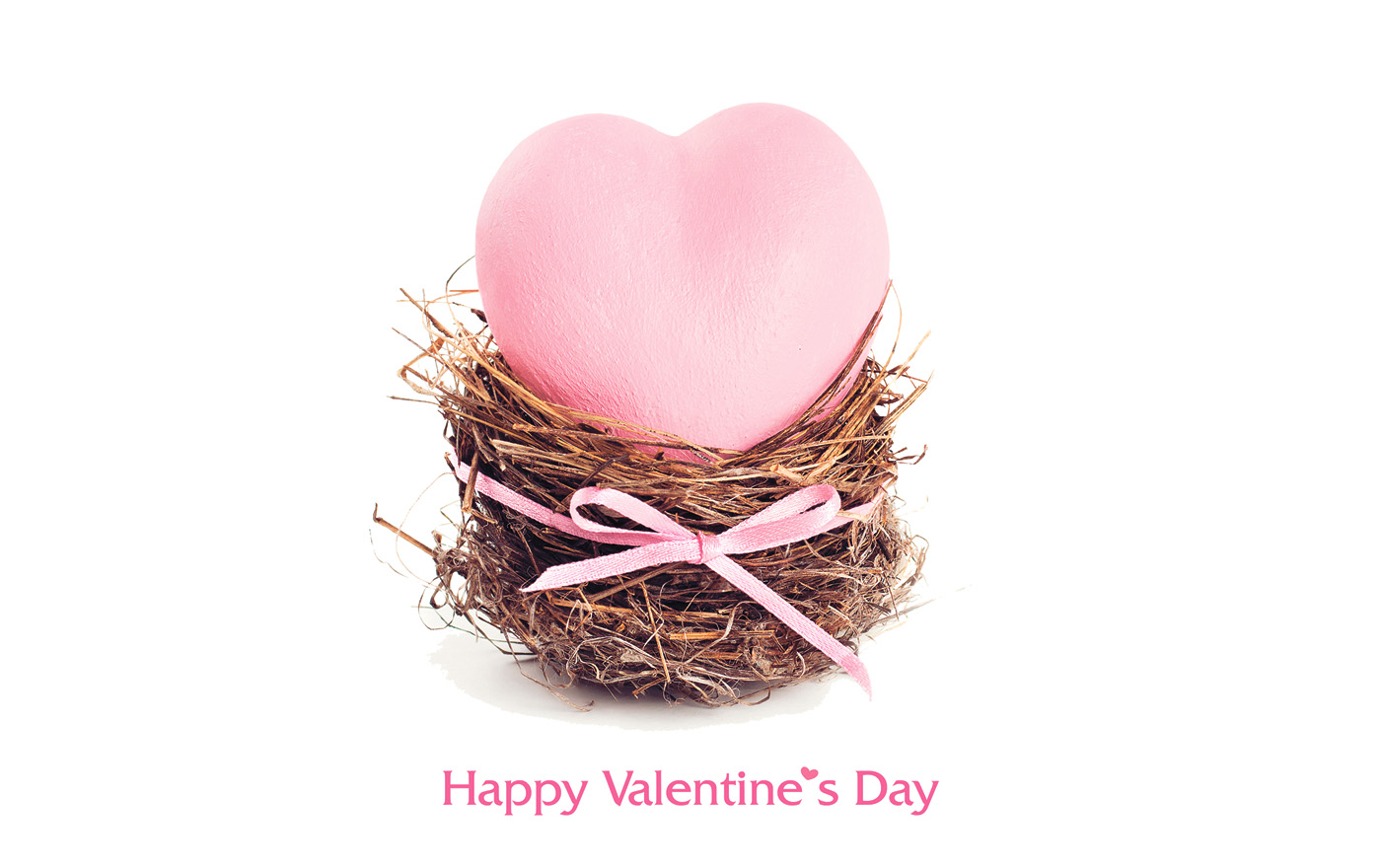 On pink heart-shaped nest 50066