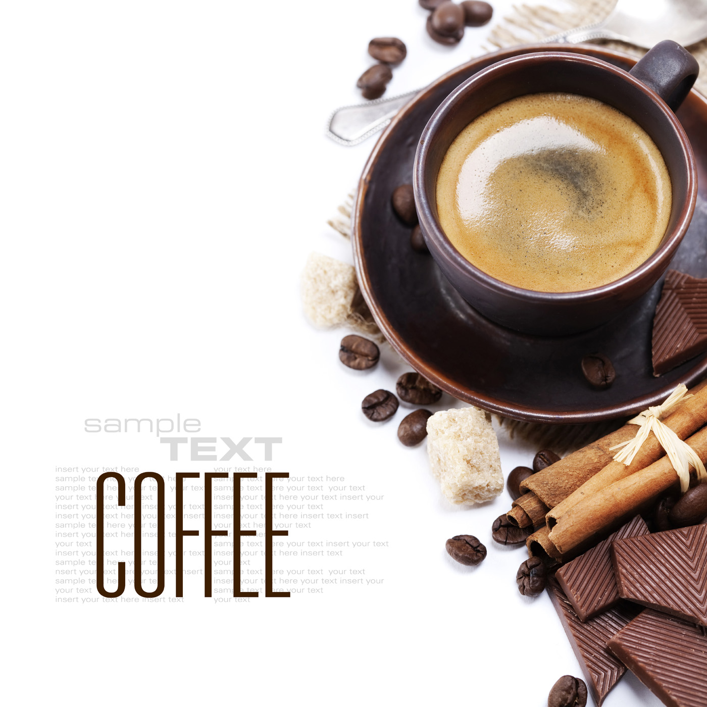 Coffee cup chocolate and spices 50071