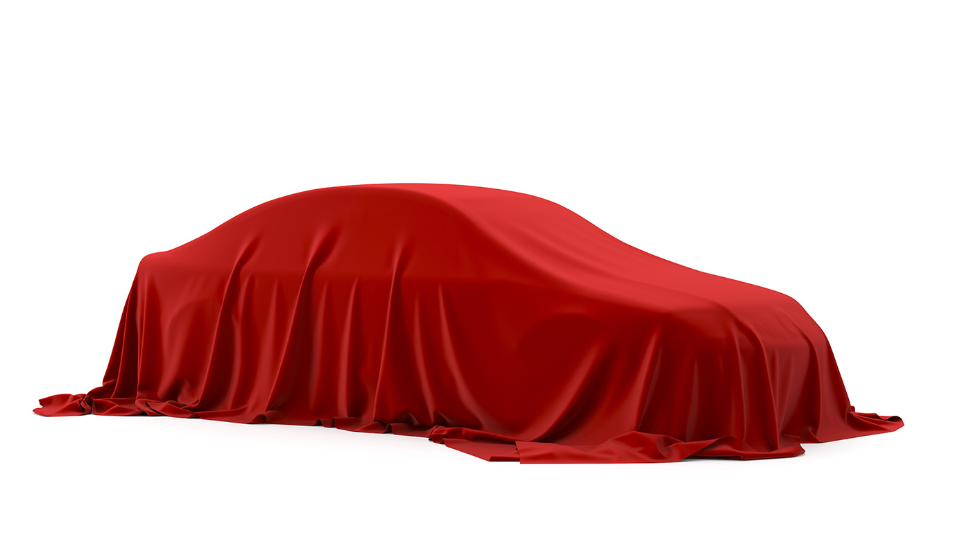 Red cloth covered under car 50110
